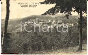 1930 Fiuggi - Panorama visto da Pensione Miravalle