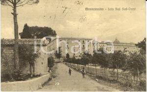 1914 Abbazia MONTECASSINO (FR) Veduta lato sud-ovest Cartolina FP VG DANNEGGIATA