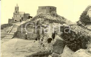 1953 PORTO VENERE (SP) Veduta chiesa SAN PIETRO e CASTELLO *Cartolina FP VG