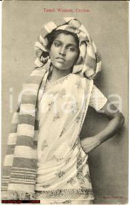 1912 CEYLON Tamil Woman - FP VG