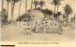 1930 ca TRIPOLI (LIBIA) La Guardia coloniale dell'oasi