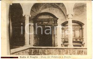 1929 Abbazia di PRAGLIA Porta refettorio e lavabo FP VG