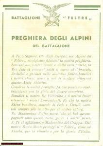 1940 FELTRE (BL) Preghiera Alpini battaglione