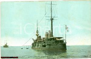 1920 circa LE CONDE' Croiseur cuirassé WAR SHIP FP NV
