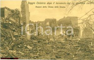 1920 ca REGGIO CALABRIA Chiesa delle GRAZIE dopo sisma