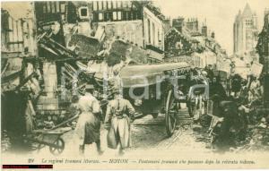 1917 NOYON F Pontonieri francesi dopo ritiro TEDESCHI