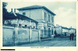 1930 circa MOTTA DEI CONTI (VC) L'asilo infantile FP NV