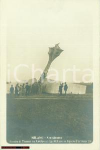 1910 MILANO Concorso aereo Incidente THOMAS e DICKSON