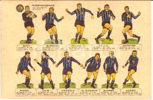 1966 L'INTERNAZIONALE Formazione dell'INTER Illustrata
