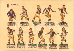 1964 JUVENTUS La formazione Cartolina illustrata FG NV