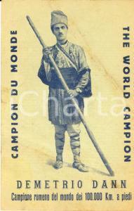1940 ca DEMETRIO DANN Campione rumeno 100.000 km FP NV
