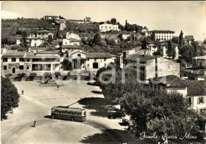 1953 FIESOLE (FI) Passaggio di filobus in piazza MINO
