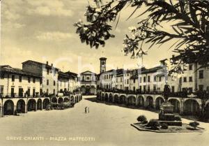 1950 ca GREVE IN CHIANTI (FI) Piazza MATTEOTTI *Animata