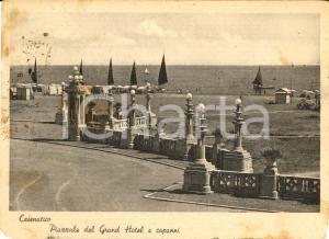 1940 CESENATICO (FC) Piazzale del GRAND HOTEL e capanni