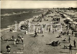 1954 CESENATICO (FC) Veduta della spiaggia ANIMATA FG