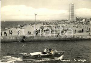1963 CESENATICO (FC) Spiaggia con motoscafo FG VG