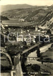 1955 BAGNO DI ROMAGNA Panorama aereo Stazione Termale
