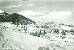 1964 ROCCARASO (AQ) Veduta del paese sotto la neve *Cartolina FG VG