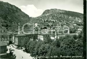 1956 TAGLIACOZZO (AQ) Veduta della città ANIMATA Cartolina FG VG