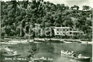 1960 SCANNO (AQ) Particolare del lago ANIMATA Cartolina FG VG