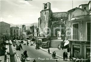 1963 SULMONA (AQ) Piazza del Carmine Televisori AUTOVOX Cartolina FG VG