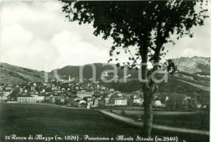 1955 ROCCA DI MEZZO (AQ) Panorama del monte SIRENTE Cartolina FG VG