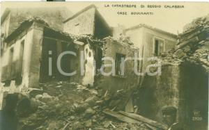 1920 ca REGGIO CALABRIA Case distrutte da terremoto 1908 ANIMATA FP NV