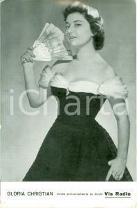 1970 ca GLORIA CHRISTIAN Biglietto pubblicitario VIS RADIO