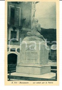 1920 SAN FILI (CS) Monumento ai Caduti per la Patria Cartolina FP NV