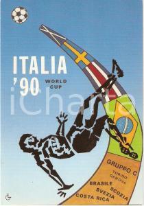 1990 ITALIA '90 WORLD CUP Edizione NUMERATA 2000 copie Luigi GORENA *Cartolina