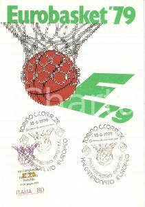 1979 TORINO Pallacanestro maschile EUROBASKET '79 Timbri primo giorno FG NV