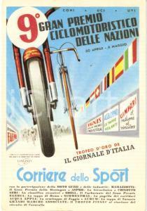 1958 CORRIERE SPORT 9° Gran Premio Ciclomotoristico delle Nazioni *Cartolina