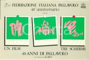 1986 FEDERAZIONE ITALIANA PALLAVOLO 40° Anniversario Cartolina FG NV