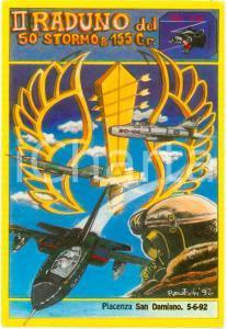 1992 PIACENZA SAN DAMIANO II Raduno 50° Stormo 155° Gruppo FG NV Ed. NUMERATA