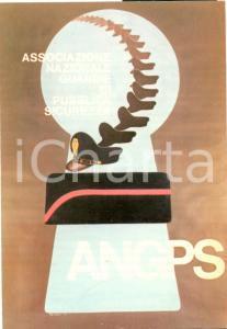 1980 ANGPS Associazione Nazionale Guardie P.S. 1° Decennale *Cartolina FG NV