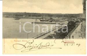 1900 SIRACUSA Passeggio ADORNO Cartolina postale FP VG