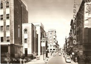 1958 BARI Via Vittorio Veneto BELLA ANIMAZIONE FG VG