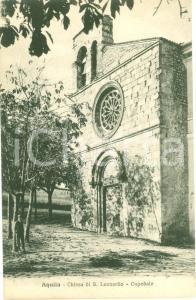 1930 ca L'AQUILA La Chiesa di SAN LEONARDO Cartolina ANIMATA FP NV