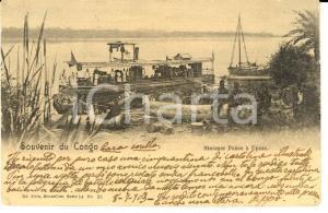 1903 CONGO BELGE Steamer Peace à UPOTO Animata *Cartolina FP VG