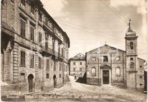 1950 ca RECANATI (MC) Palazzo Leopardi PIAZZA SABATO DEL VILLAGGIO FG NV