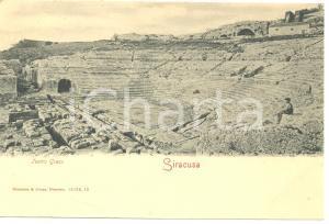 1900 ca SIRACUSA Teatro GRECO *Cartolina FP NV