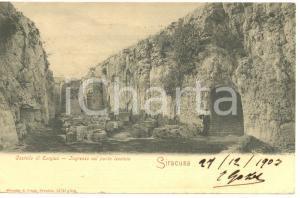 1903 SIRACUSA Castello di EURYLUS - Ingresso con Ponte LEVATOIO *Cartolina FP VG