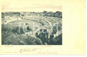 1901 SIRACUSA L'ANFITEATRO *Cartolina FP VG