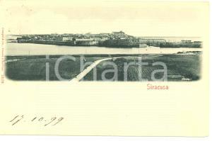 1899 SIRACUSA Veduta del porto *Cartolina postale FP VG