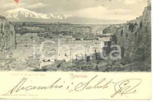 1903 SIRACUSA Castello di EURYLUS coll'ETNA *Cartolina FP VG