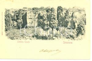 1901 SIRACUSA Latomia CASALE *Cartolina postale FP VG