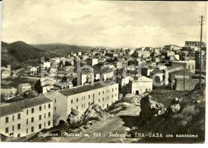 1958 STIGLIANO (MT) Palazzine INA - Casa con panorama *Cartolina postale FG VG