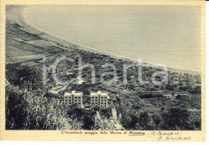 1940 NICOTERA MARINA (VV) Panorama della spiaggia  *Cartolina postale FG VG
