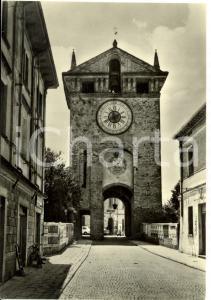 1960 ca GONZAGA (MN) Torre dell'Orologio *Cartolina FG NV