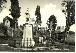 1960 ca CASTIGLIONE DELLO STIVIERE (MN) Monumento ai CHIASSI *Cartolina FG NV